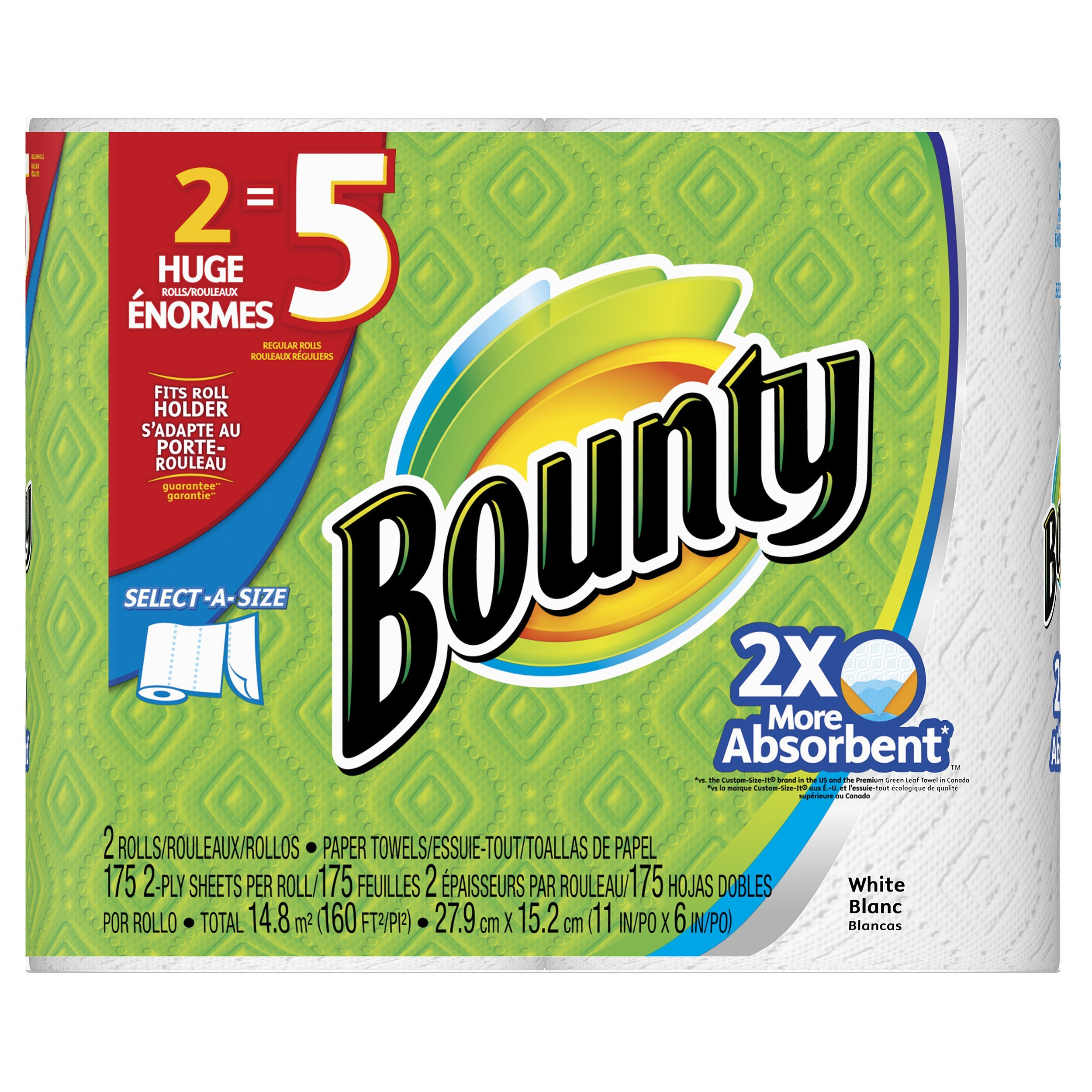 Bounty Select-A-Size Paper Towels, 12 Huge Rolls by Bounty