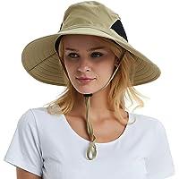 Sombrero de sol de ala ancha de los hombres, protección solar al aire libre impermeable Bucket Mesh Boonie sombrero para el viaje Camping de senderismo de pesca caza canotaje Safari Cap con cordón ajustable