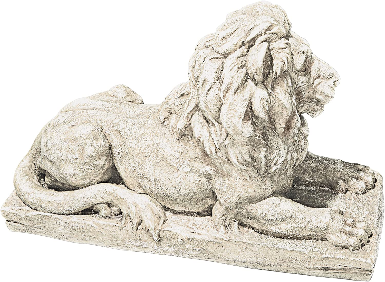 Design Toscano AL21949 Lyndhurst Manor Lion Sentinel Statue,Antique Stone