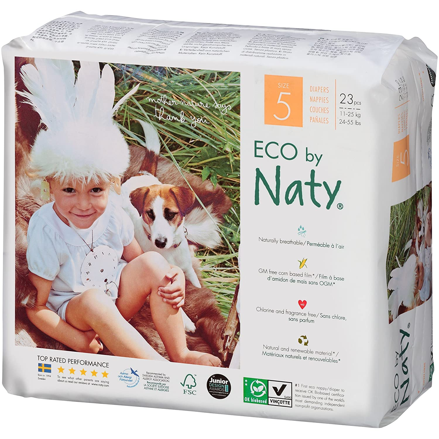 Amazon.com: Branded Naty, ECO By Naty Diapers , Size 5, Weight 27lbs - Branded Diapers with fast delivery (Soft and Comfortable for Babies): Health ...