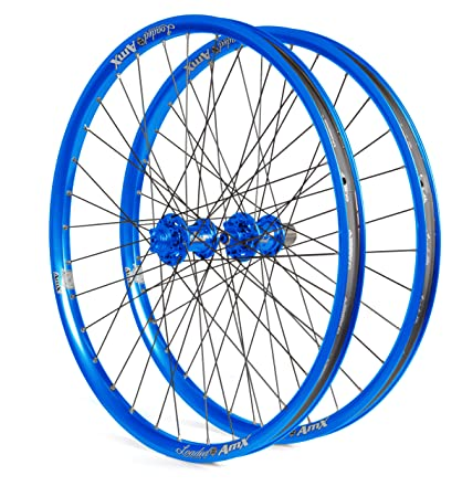 Amazon com : Loaded AmX Signature Wheelset (Blue, 26-Inch) : Bike