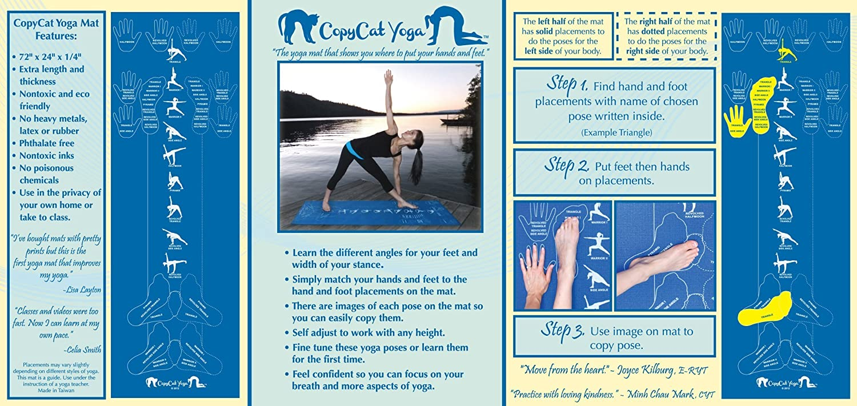 Amazon Copycat Yoga Instructional And Educational Yoga Mat