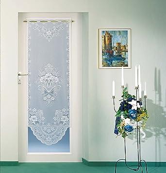 Tende per porta o finestra, con lavorazione jacquard di alta qualità,  disponibile in versione bianca o colorata, certificate Ökotex,pronte  all\'uso, ...
