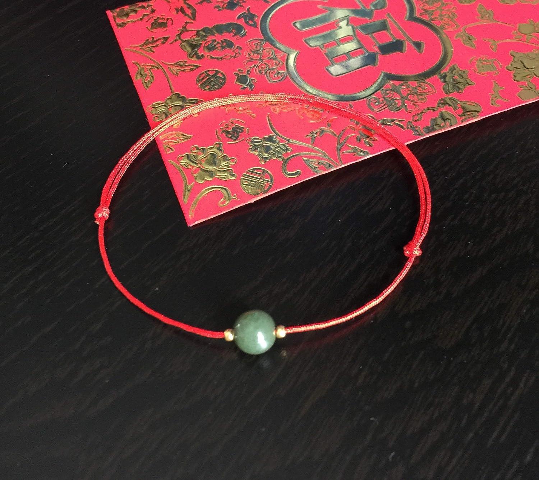Cute Jade Bracelet Womens Bracelet Red String Bracelet Good Luck Bracelet Unique Design Christmas Gift Handmade Gift Original design