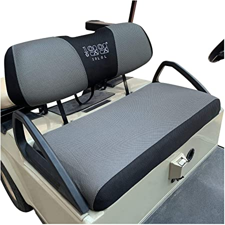 10L0L Golf Cart Seat Cover Set Fit for Club Car DS Precedent & Yamaha, Breathable Bench Seat Covers Keep The Seats Cool in The Summer Heat Washable Polyester Mesh Cloth Multicolor - Large