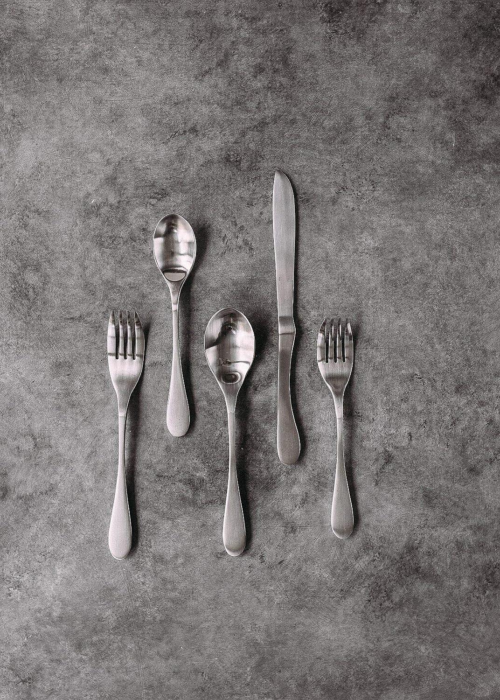 Knork Matte 20-Piece Flatware Set Silver 32