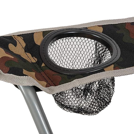 Highlander Campingstuhl mit Armlehnen Silla para Acampada, Unisex, Camouflage: Amazon.es: Deportes y aire libre