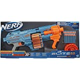 Nerf Elite 2.0 Shockwave RD-15 Blaster, 30 Nerf Darts, 15-dart rotationstrumma, snabbeld med pumpåtgärd, med…