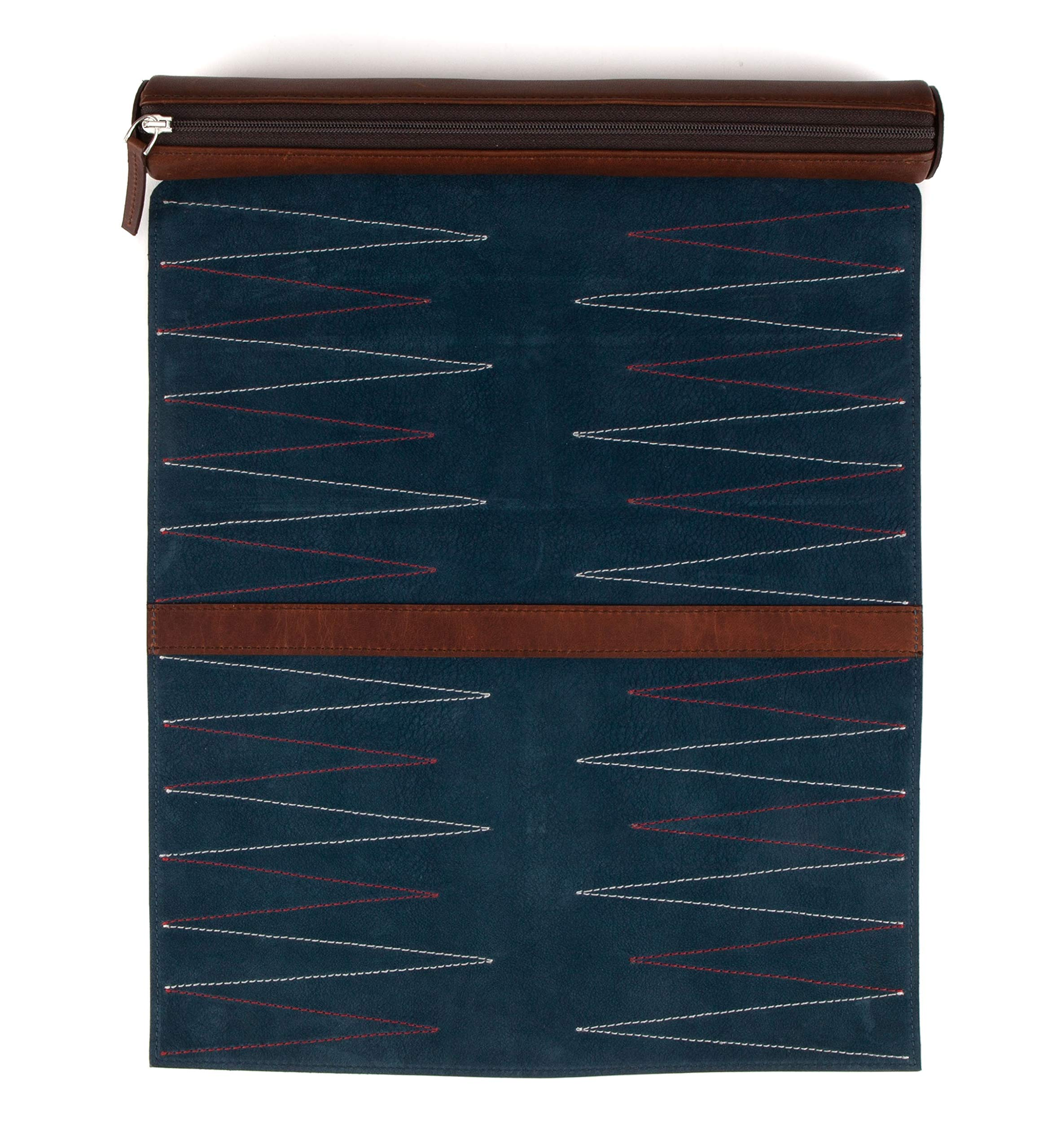 Moore and Giles Luxury Leather Travel Backgammon Set, Baldwin Oak by Moore and Giles (Image #3)