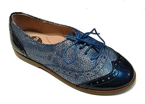 Beberlis - Mocasines de Piel para niña azul azul, color azul, talla 27 EU