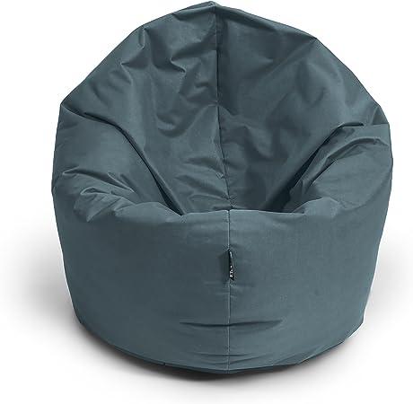 Sessel Sitzkissen Kissen GRAU TOP XL Sitzsack 220 Liter Bean Bag