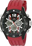 U.S. Polo Assn. Sport Men's Quartz Metal and Rubber Casual Watch, Color:Red (Model: US9525)