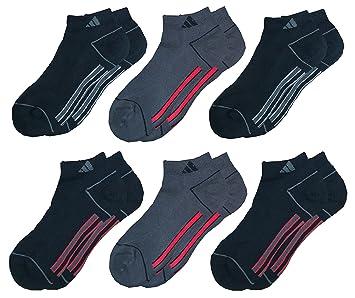 Adidas Calcetines deportivos Climalite de los hombres de corte bajo + Amortiguado + Compresión - Tamaño