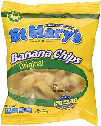 St Mary plátano chips 1,06 oz (Pack de 24): Amazon.com ...