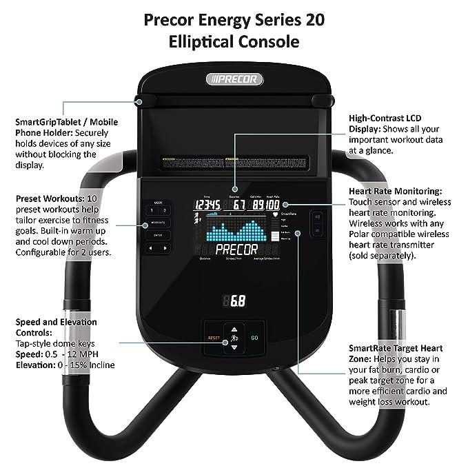 Precor EFX 221 energía serie bicicleta elíptica: Amazon.es: Deportes y aire libre
