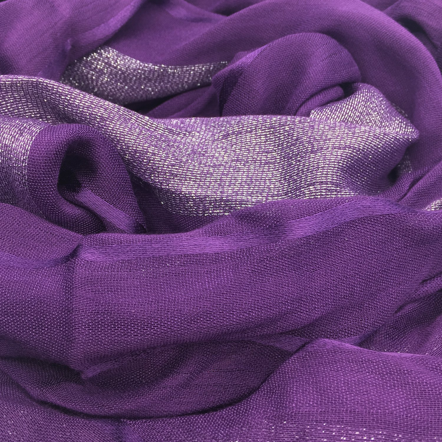 YOUR SMILE Women's Lightweight Glitter Color mixture Print Shawl Scarf For Spring Season (Purple) by YOUR SMILE (Image #2)