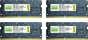 "128GB (4x32GB) DDR4-2666MHz PC4-21300 SO-DIMM Memory for Apple 27"" iMac with Retina 5K Display Mid 2020 (iMac 20,1 iMac 20,2) by NEMIX RAM"