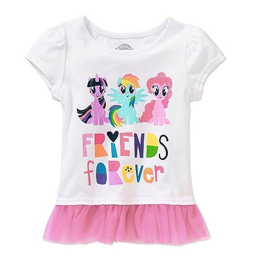 amazon com my little pony toddler little girls friends forever t