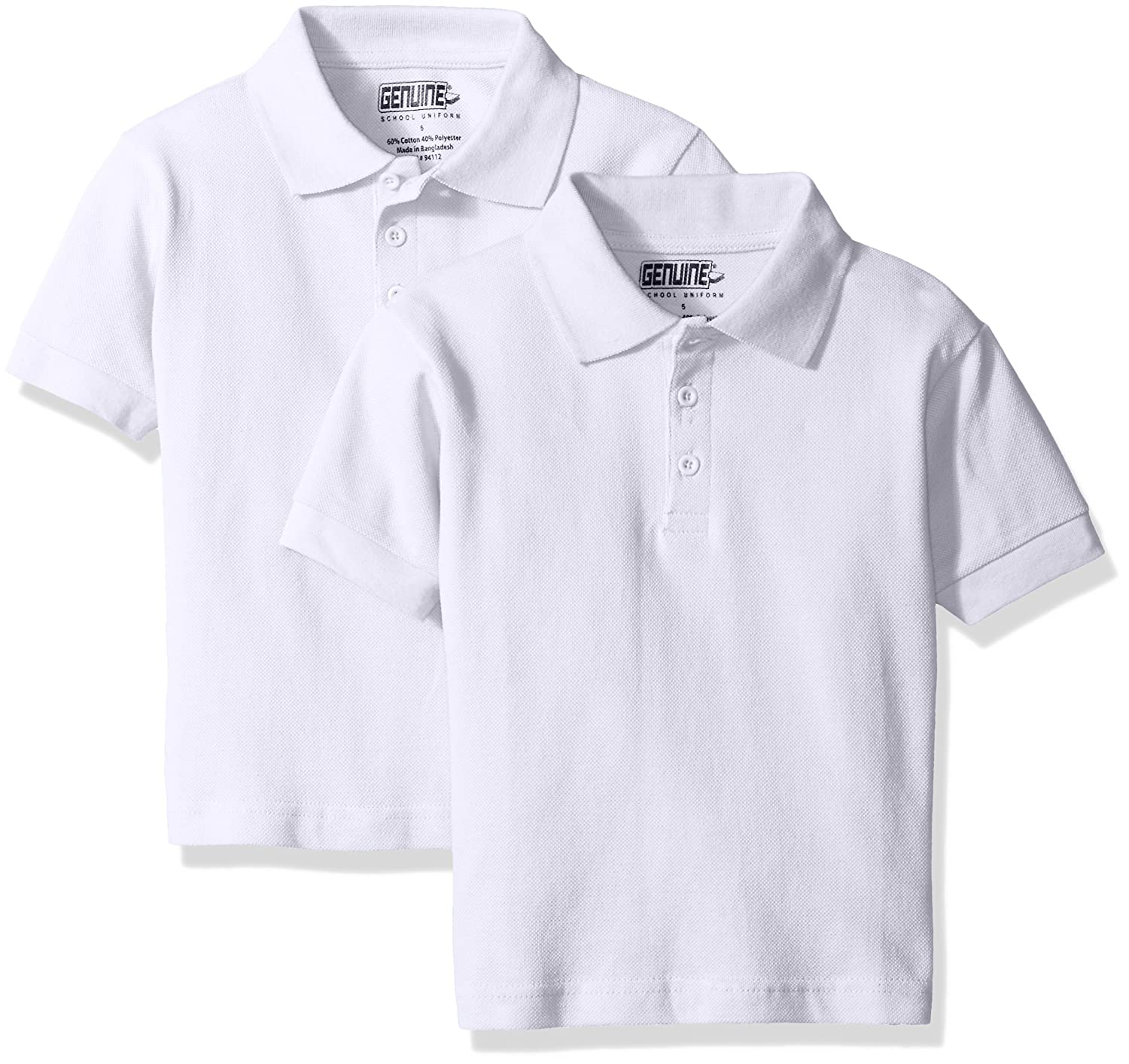 Genuine Boys' 2 Pack Polo Shirt (More Styles Available) Genuine Boys 2-7 T5PL86