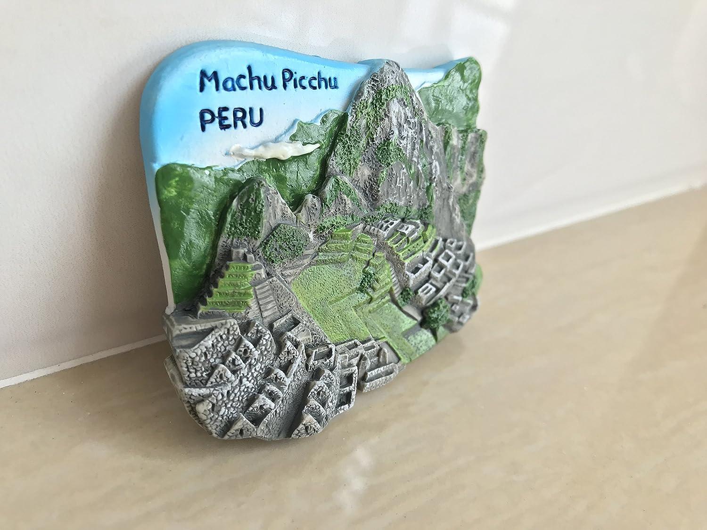 Maison dautocollant et d/écoration de Cuisine Aimant de r/éfrig/érateur MUYU Magnet 3D Aimant de r/éfrig/érateur Machu Picchu Voyage Souvenir