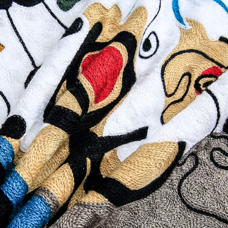 Topfinel Lot de 4 Housse de Coussin Picasso 45x45 cm Decoration Canap/é Housse Coussin Vintage en Lin Broderie de Couleur Milticolore pour Decor Chambre Salon Lit Voirture