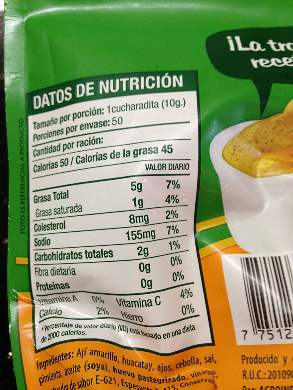 Amazon.com : Aji Criollo - Peruvian Creole Sauce - 500 grams - Supermercados Metro : Chile Pastes : Grocery & Gourmet Food