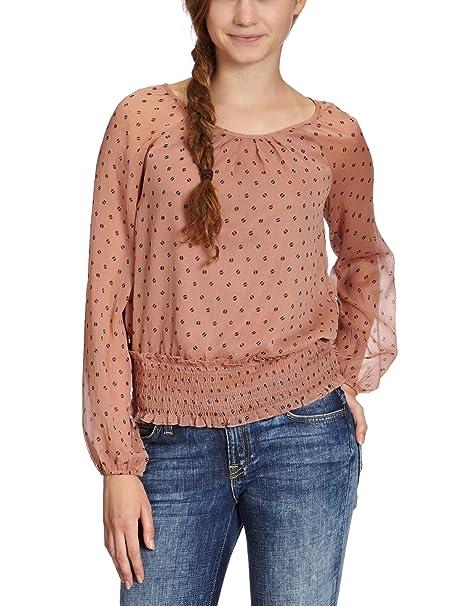 Vero Moda Camisas - Cuello redondo - Manga Larga - para mujer: Amazon.es: Ropa y accesorios