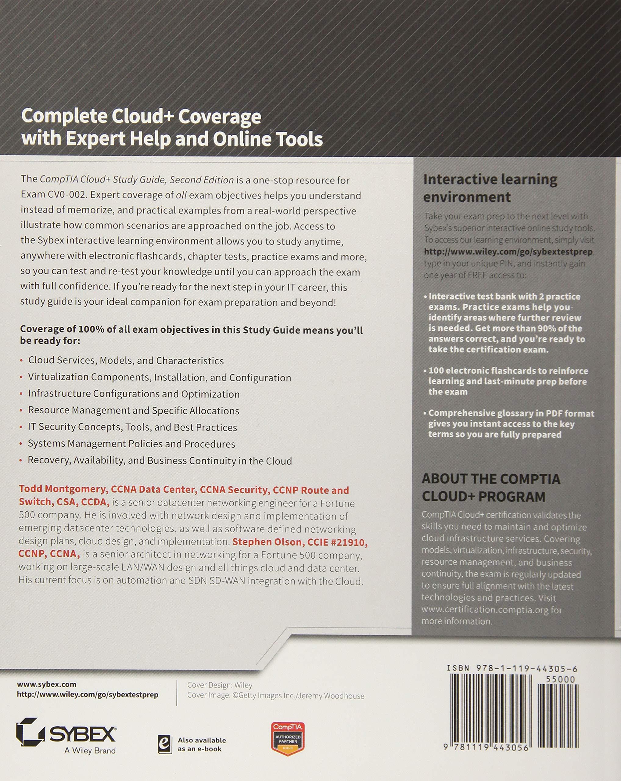 Comptia Cloud Study Guide Exam Cv0 002 Amazon Todd Montgomery