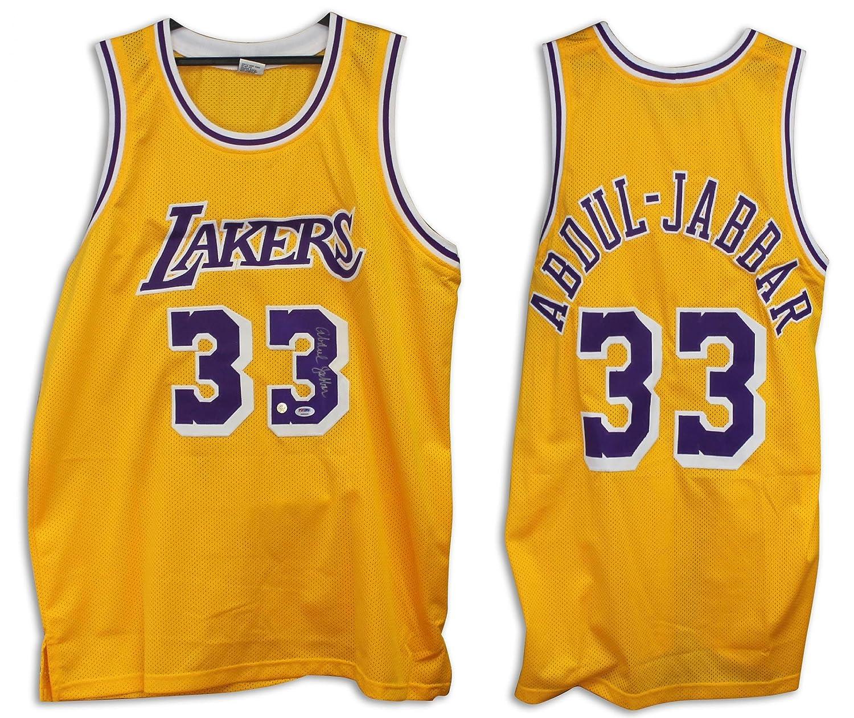 66e61cf6aad Amazon.com: Kareem Abdul-Jabbar Signed Jersey - Gold - Autographed NBA  Jerseys: Sports Collectibles