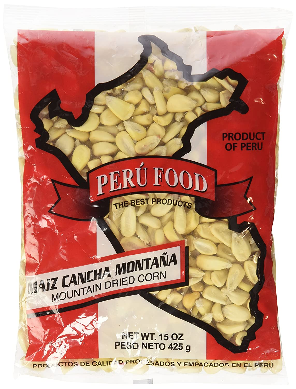 Amazon.com : Peru Food Maiz Cancha Montana - Peruvian Dried Corn - 15 ounces : Corn Produce : Grocery & Gourmet Food