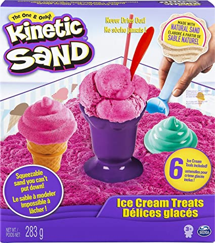 Image ofKinetic Sand Ice Cream Treats - Arena cinética (Rosa, Chica)