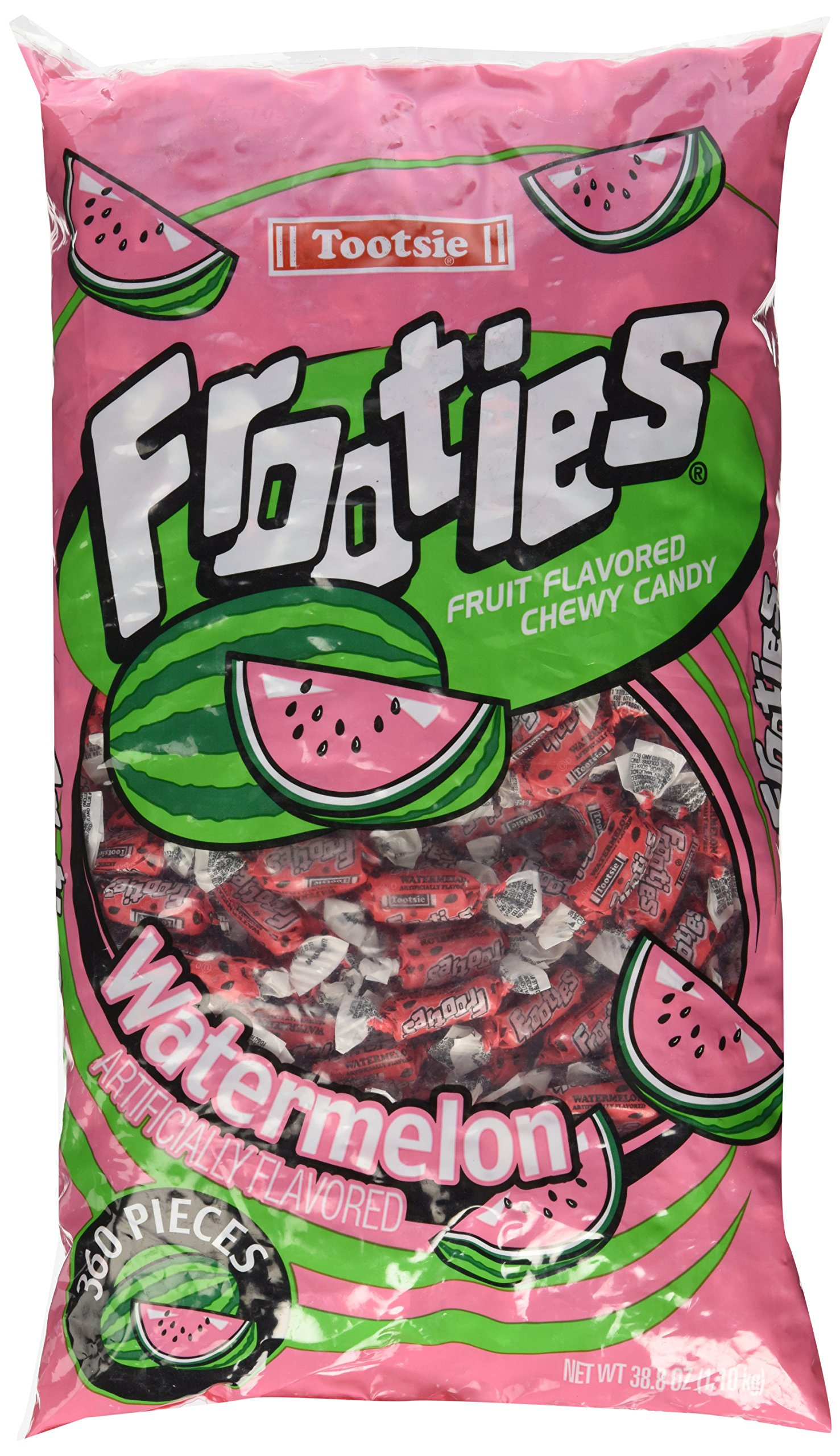 Watermelon Tootsie Roll Frooties Chewy Candy - 360-piece Bag (Gluten Free ~ Peanut Free)