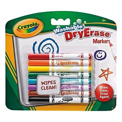 Crayola 98-2002-E-000 - Loisir Créatif - 8 Feutres Effaçables à Sec Lavables