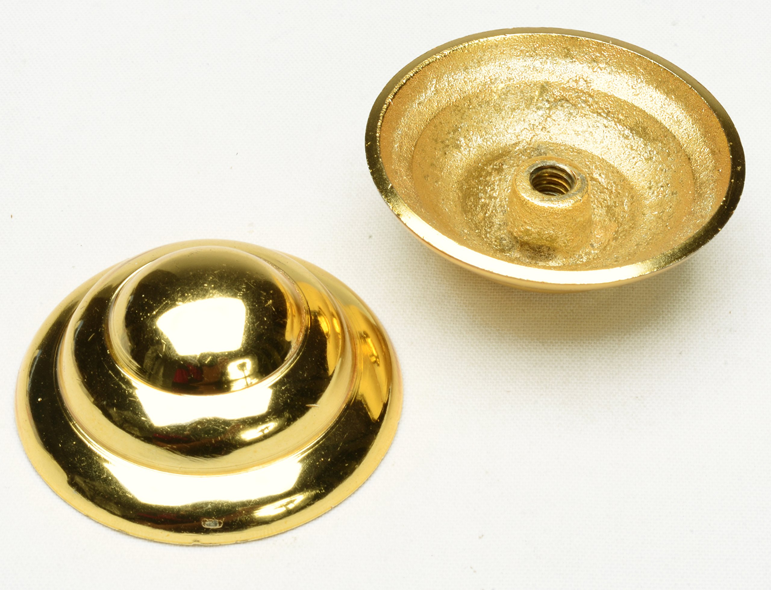 Pair 2 Pcs Brass Accents for Door Window Chest 1.5'' Dia Home Imrpovement