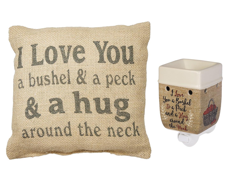 Love You aブッシェルとペック電気プラグインWarmer and黄麻布枕のセット2 B0773YS35T