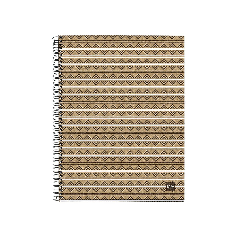 Miquelrius–2873NOTEBOOK 4cartone riciclato ecoazteca M, DIN A5, 148x 210mm, 120fogli, 80g/m², a quadretti MIQUEL-RIUS