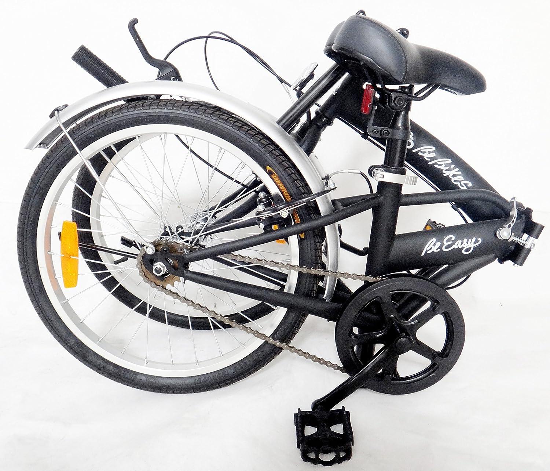 Bicicletta Be Easy Salvaspazio Ripiegabile Accessori Colore Rosso