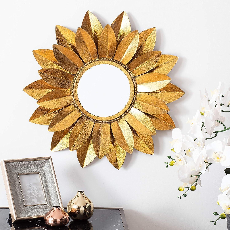 Safavieh Home Larcen Gold Foil 22-inch Decorative Accent Mirror