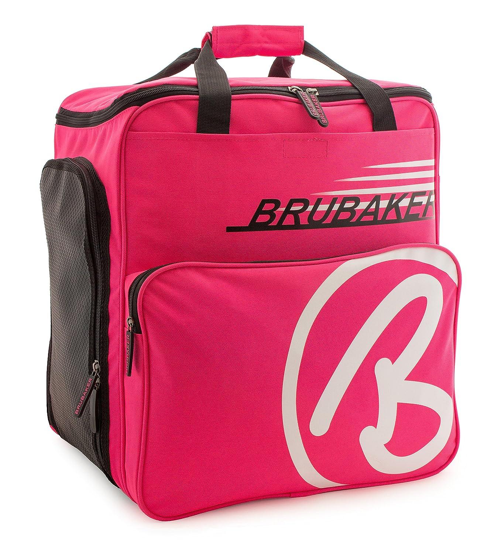 BRUBAKER Skischuhtasche Helmtasche Skischuhrucksack Super Champion Pink Weiss - Limited Edition -