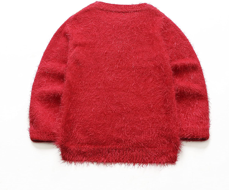10-11 Ans Nouveaut/é Pulls Rouges pour filles et gar/çons en forme de renne pour enfant rouge