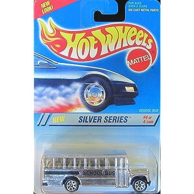 Hot Wheels 1995 Silver Series School Bus 7-Spoke Wheels #328 on New Look Card: Toys & Games