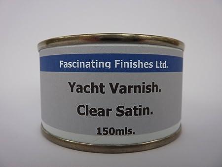 1 X 150ml Clear Satin Yacht Varnish Interior U0026 Exterior For Timber,  Concrete U0026 Metal