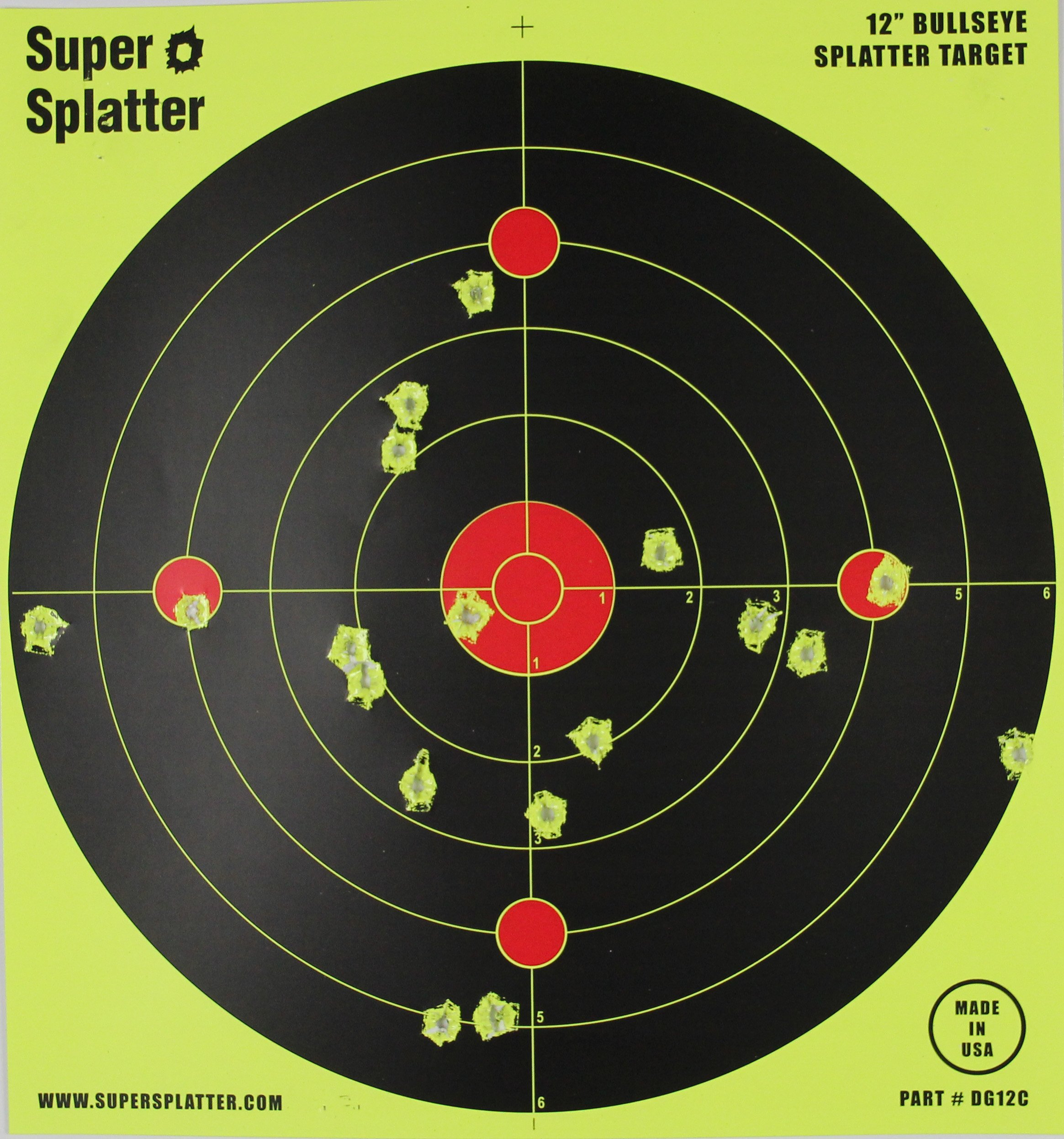 Splatter Spots 12'' Bullseye 100, 50, 25 and 10 Packs - See Your Hits Instantly (50)