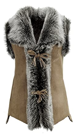571eff2a035856 DX-Exclusive wear Damen Weste Wildleder Lammfellweste, Schaffellweste,  Lederweste, Gilet, Fell, Toscana KK-0020: Amazon.de: Bekleidung