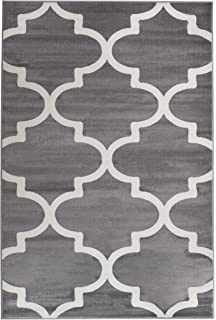 summit uyiqr5mn5t 50 grey trellis area rug modern abstract many sizes available