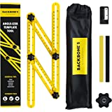 Multi Angle Measuring Ruler   Upgraded Angle-izer Template Tool For Repetitive Measuring, Marking Shapes & Angles   Angleizer Ultimate pack with Pencils, Sharpener & Storage Bag
