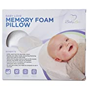 Newborn Baby Head Shaping Pillow | Memory Foam Cushion for Head Support & Flat Head Syndrome (Positional Plagiocephaly) Prevention | Bamboo Pillowcase Included