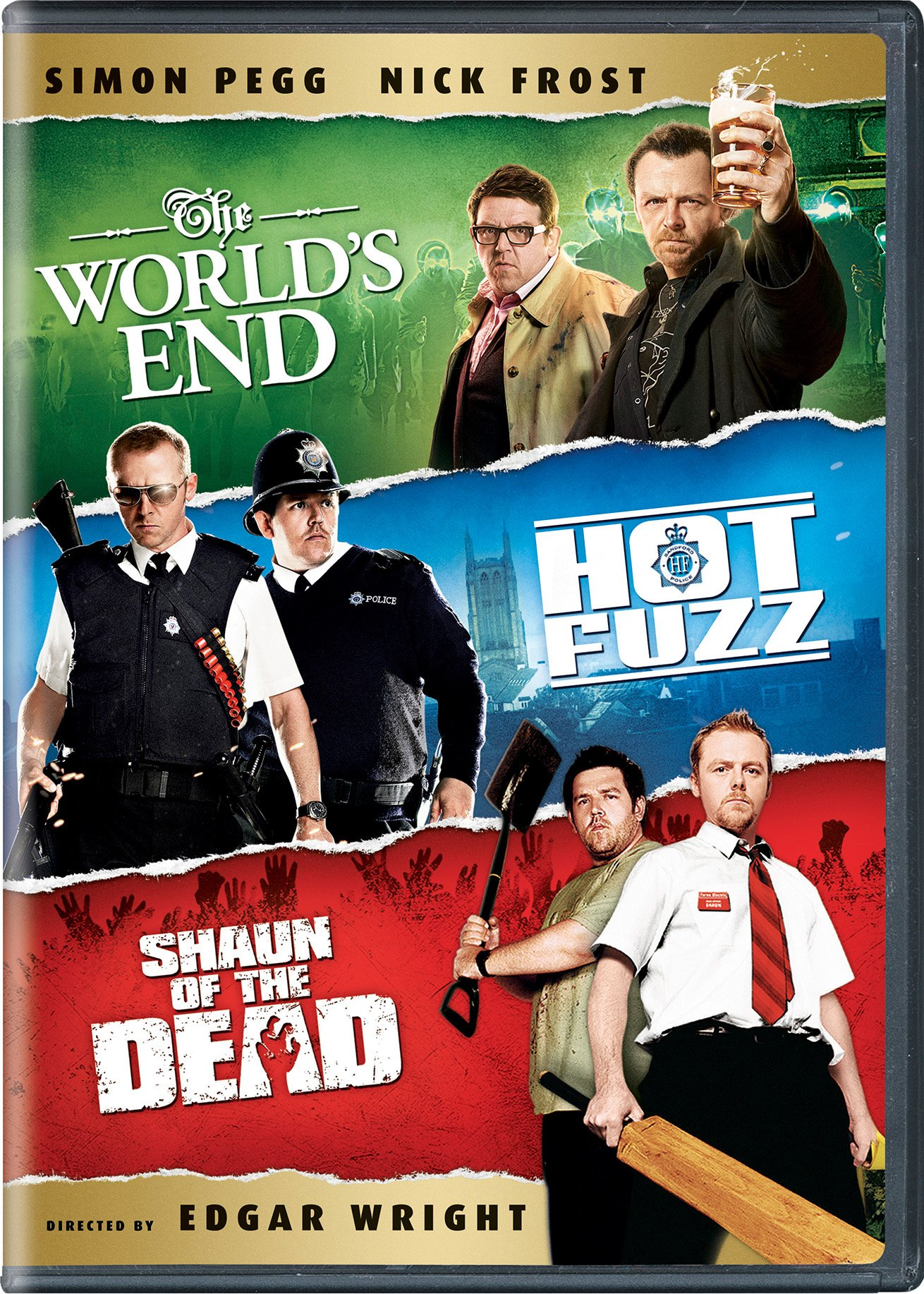 DVD : The World's End / Hot Fuzz / Shaun of the Dead (3 Pack, Snap Case, 3 Disc)