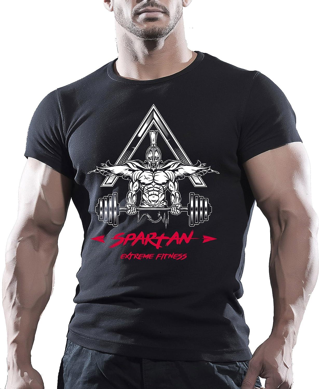 dcda3864ab9 Spartan Training Bodybuilding Gym Motivation T-Shirt MMA Workout Clothing  TOP Black