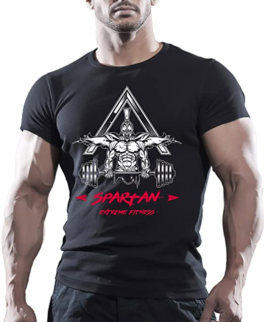 spartan maglietta  Spartan, maglietta a maniche corte sportiva da uomo, ideale per ...